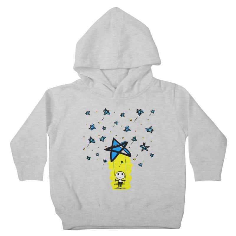 starry night dreamer boy Kids Toddler Pullover Hoody by cindyshim's Artist Shop
