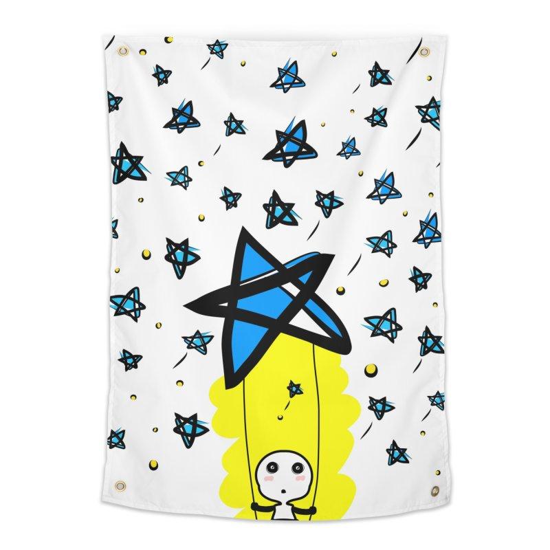 starry night dreamer boy Home Tapestry by cindyshim's Artist Shop