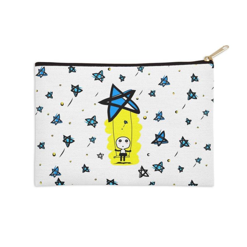 starry night dreamer boy Accessories Zip Pouch by cindyshim's Artist Shop