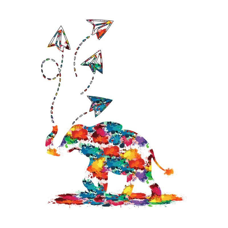 rainbows elephant  by cindyshim's Artist Shop