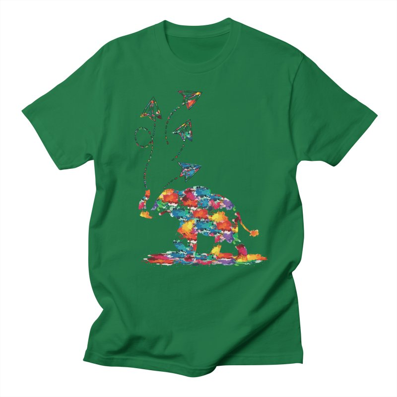 rainbows elephant  Men's Regular T-Shirt by cindyshim's Artist Shop