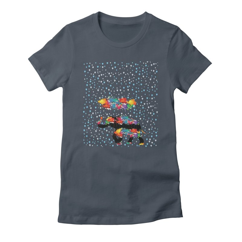 I love rain Women's Fitted T-Shirt by cindyshim's Artist Shop