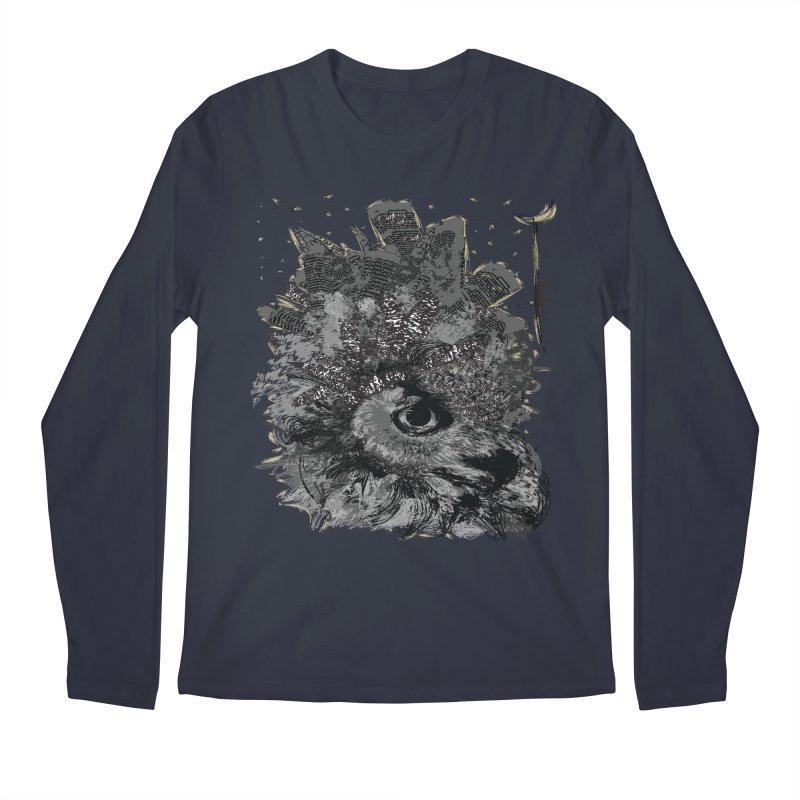 Good night owl city Men's Regular Longsleeve T-Shirt by cindyshim's Artist Shop