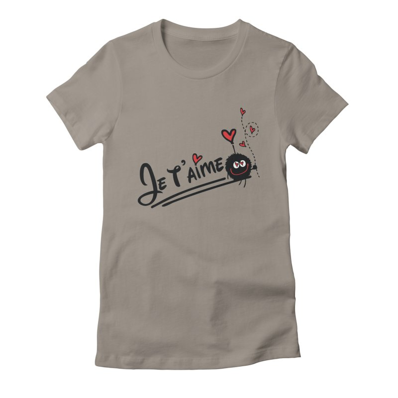 Je t'aime Women's Fitted T-Shirt by cindyshim's Artist Shop