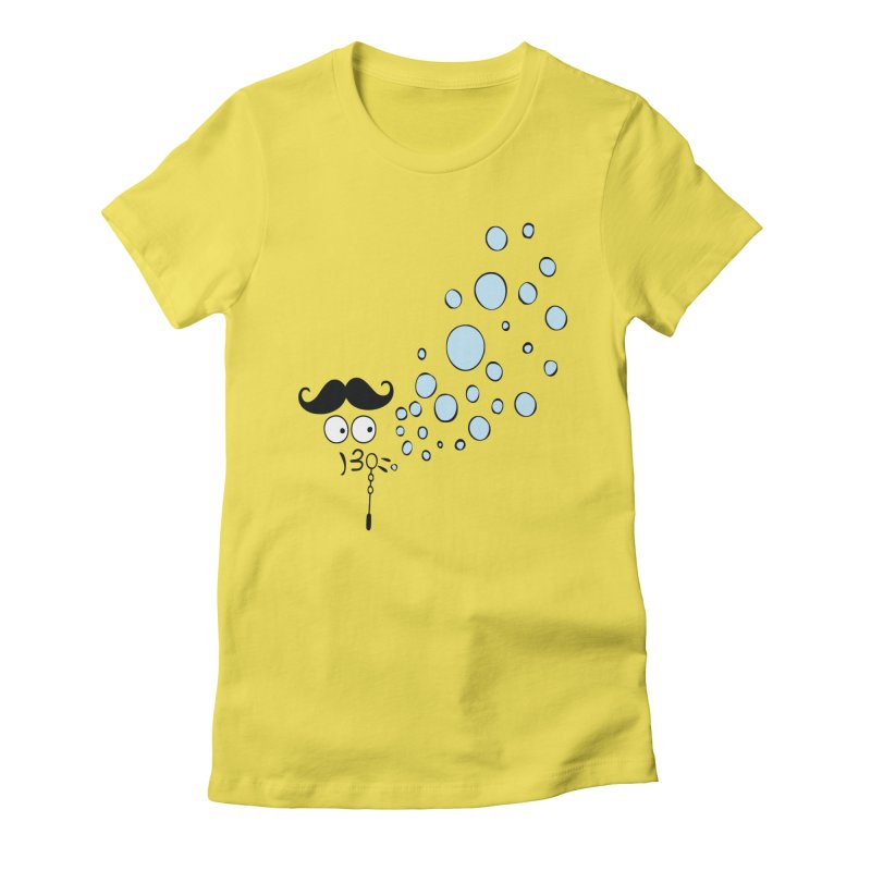 Blowing bubbles Women's Fitted T-Shirt by cindyshim's Artist Shop