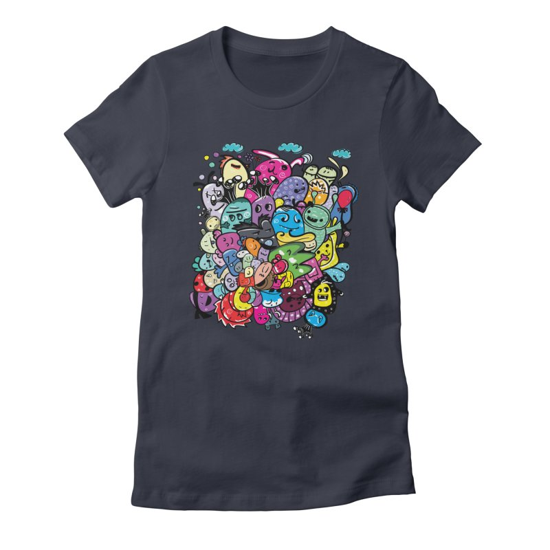 Monster firneds Women's Fitted T-Shirt by cindyshim's Artist Shop