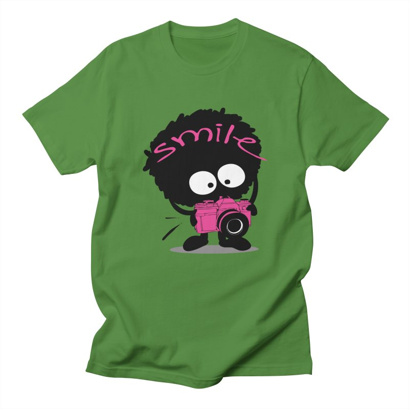 Smile Women's Regular Unisex T-Shirt by cindyshim's Artist Shop
