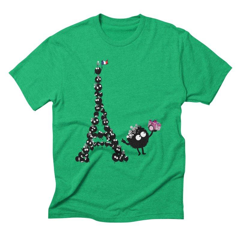 Selfie from Paris Men's Triblend T-shirt by cindyshim's Artist Shop