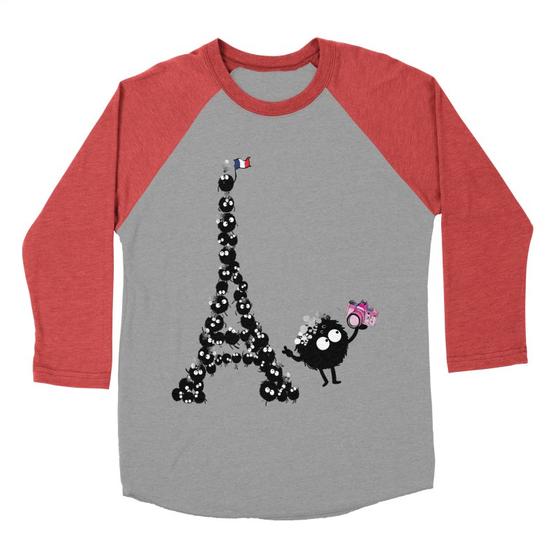Selfie from Paris Women's Baseball Triblend Longsleeve T-Shirt by cindyshim's Artist Shop