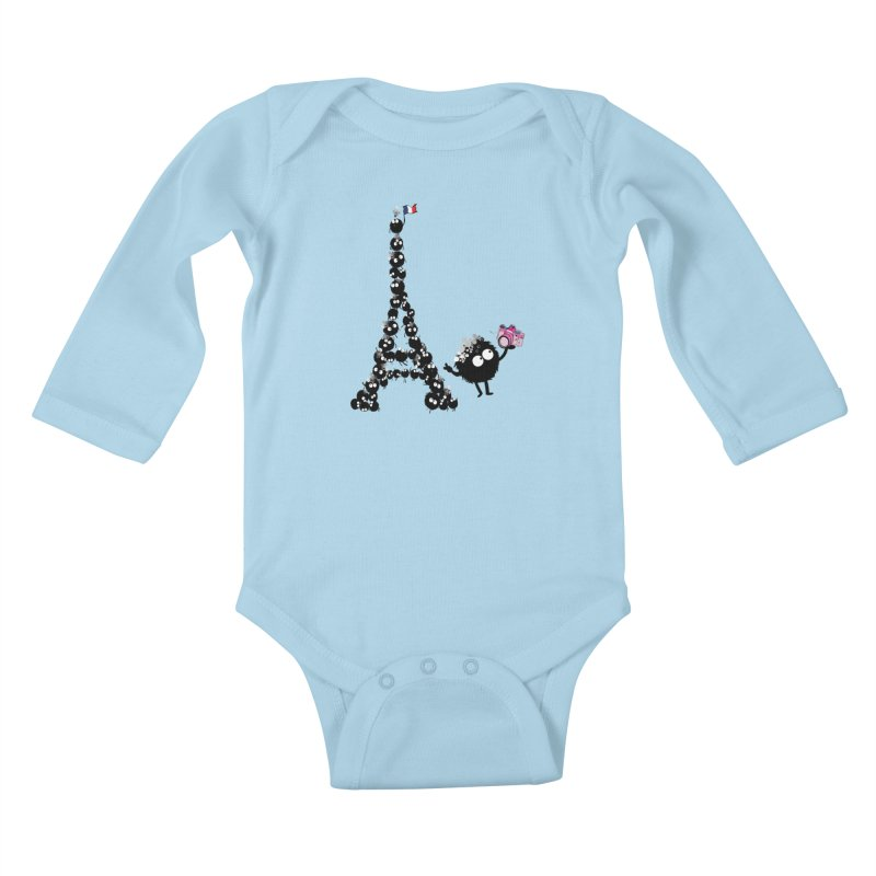 Selfie from Paris Kids Baby Longsleeve Bodysuit by cindyshim's Artist Shop