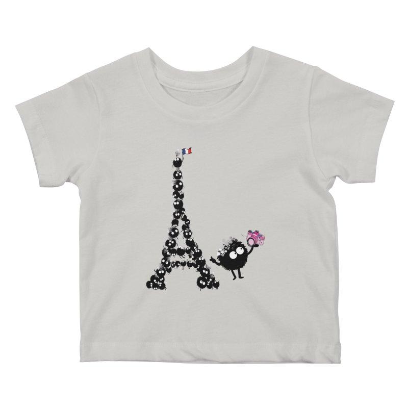 Selfie from Paris Kids Baby T-Shirt by cindyshim's Artist Shop