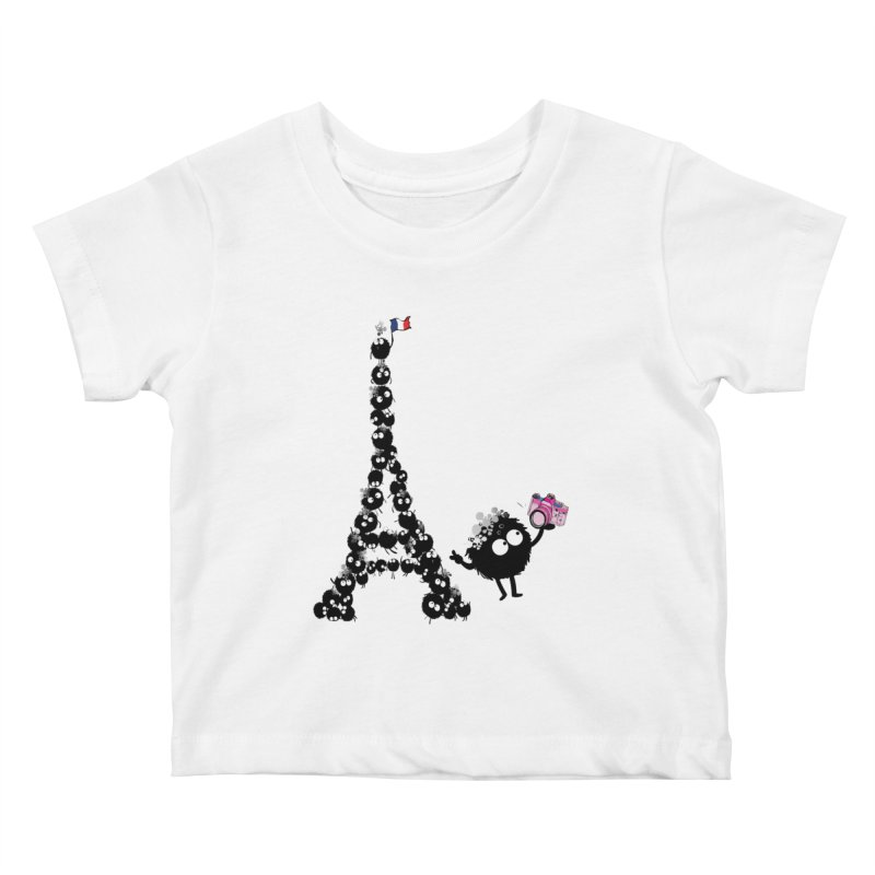 Selfie from Paris Kids Baby T-Shirt by cindyshim's Artist Shop
