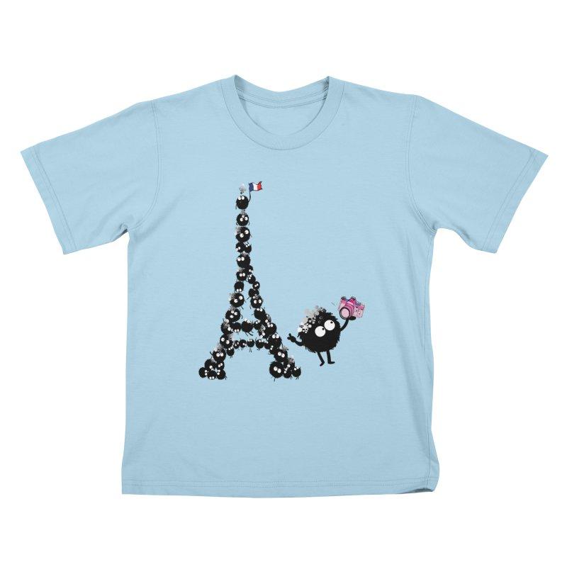Selfie from Paris Kids T-shirt by cindyshim's Artist Shop
