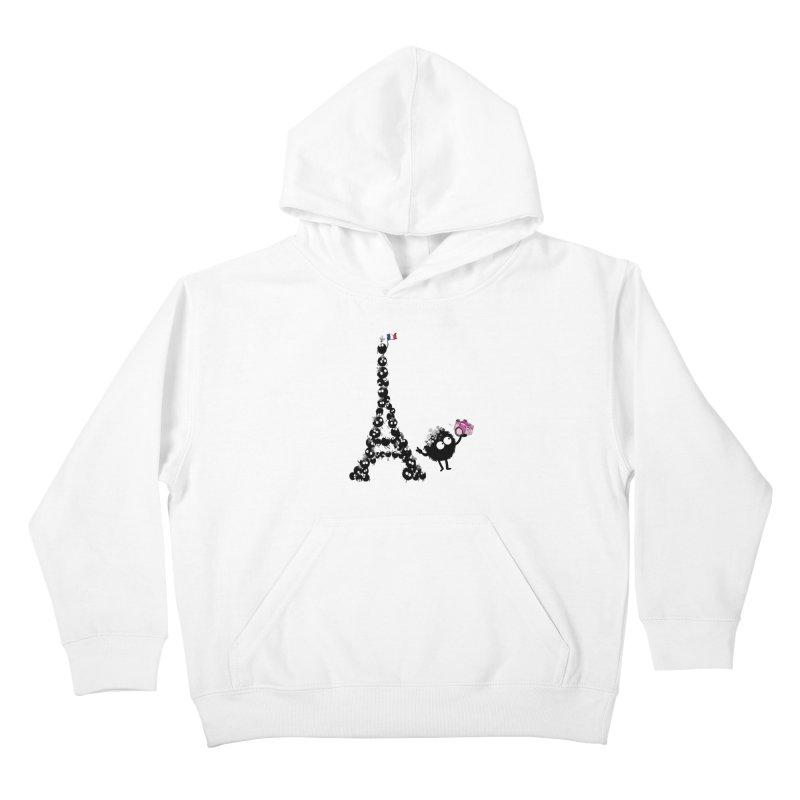 Selfie from Paris Kids Pullover Hoody by cindyshim's Artist Shop