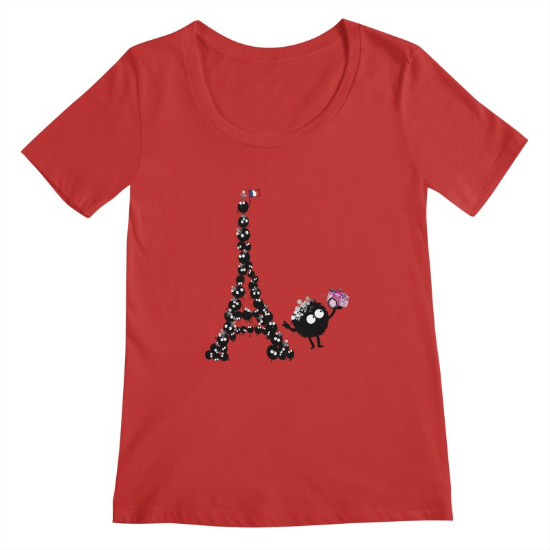 Selfie from Paris Women's Regular Scoop Neck by cindyshim's Artist Shop