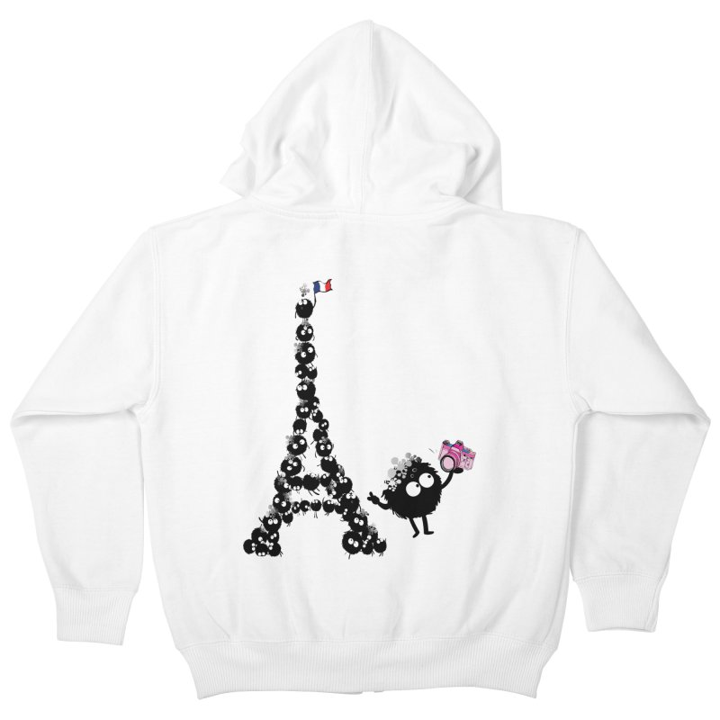 Selfie from Paris Kids Zip-Up Hoody by cindyshim's Artist Shop