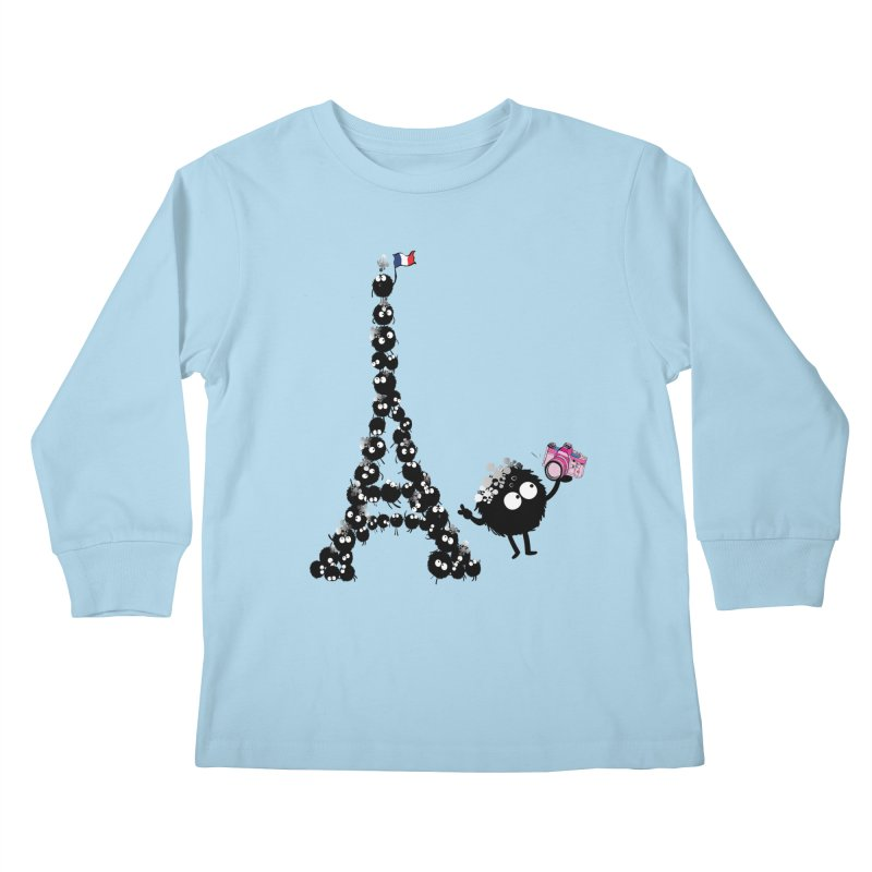 Selfie from Paris Kids Longsleeve T-Shirt by cindyshim's Artist Shop