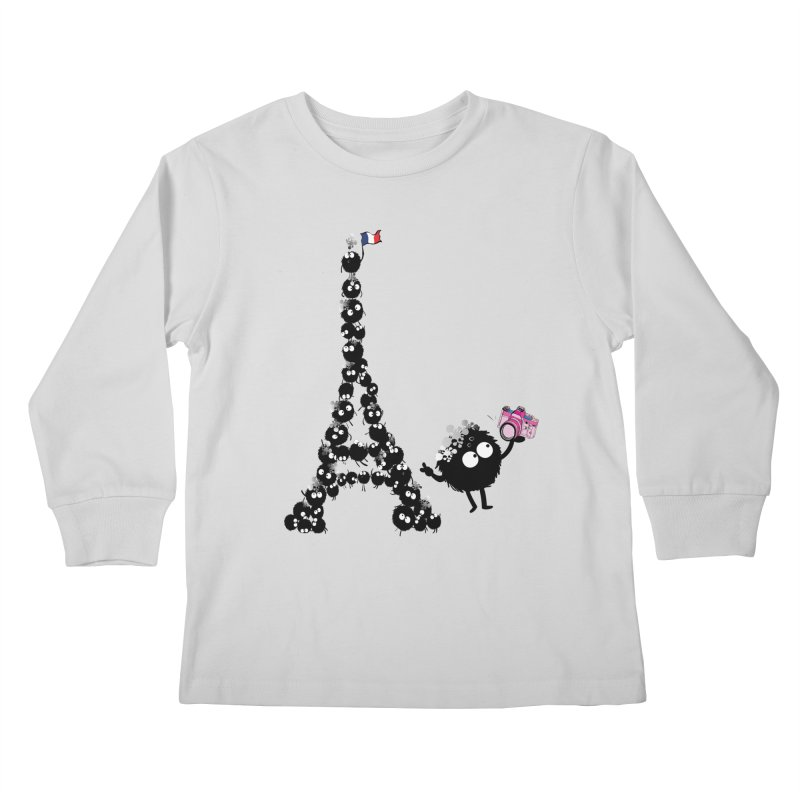 Selfie from Paris Kids Longsleeve T-Shirt by cindyshim's Artist Shop