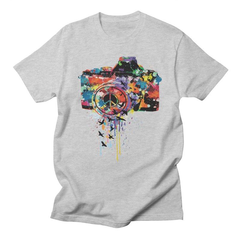colorful DSLR Men's T-shirt by cindyshim's Artist Shop