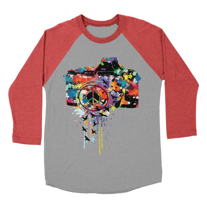 colorful DSLR Women's Baseball Triblend Longsleeve T-Shirt by cindyshim's Artist Shop