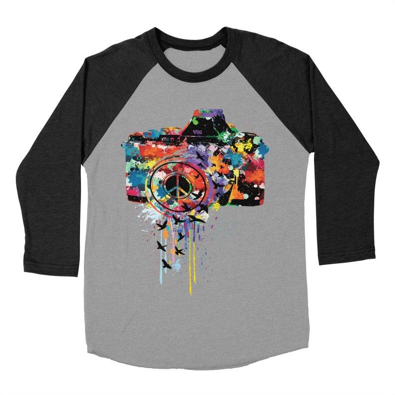 colorful DSLR Women's Baseball Triblend T-Shirt by cindyshim's Artist Shop