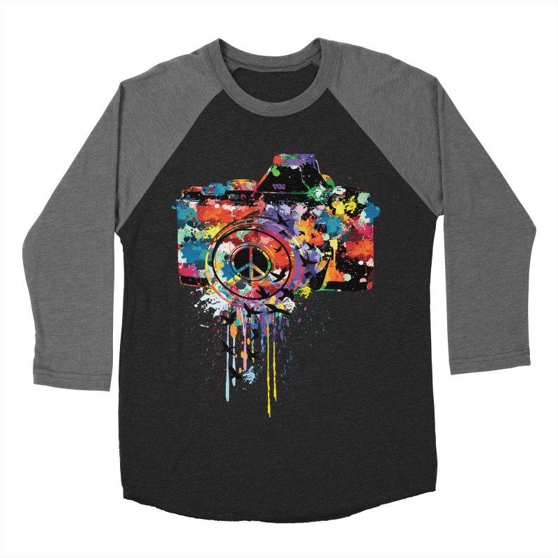 colorful DSLR Men's Baseball Triblend T-Shirt by cindyshim's Artist Shop