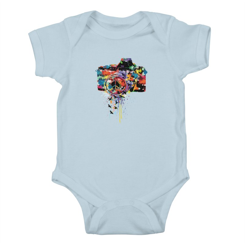 colorful DSLR Kids Baby Bodysuit by cindyshim's Artist Shop