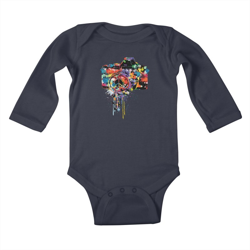 colorful DSLR Kids Baby Longsleeve Bodysuit by cindyshim's Artist Shop