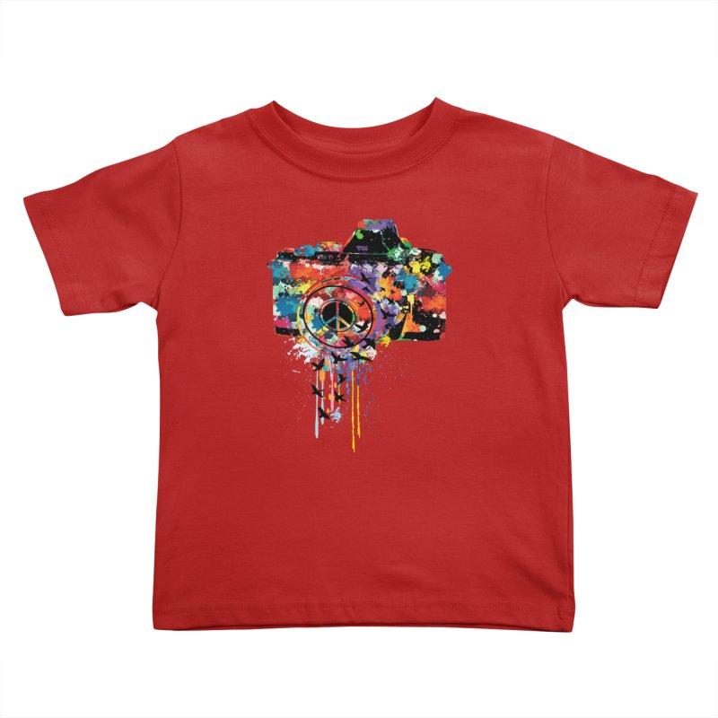 colorful DSLR Kids Toddler T-Shirt by cindyshim's Artist Shop