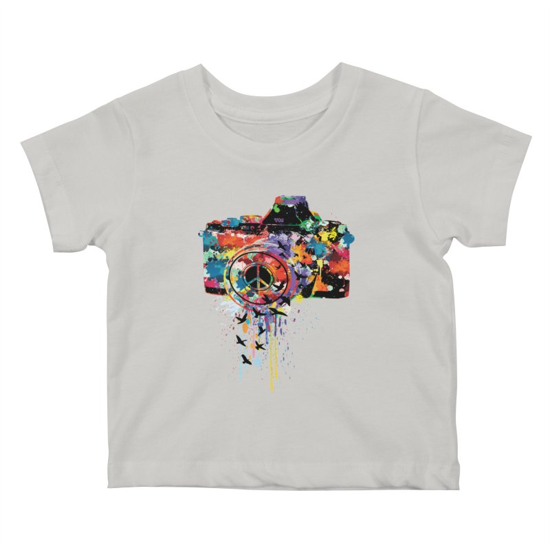colorful DSLR Kids Baby T-Shirt by cindyshim's Artist Shop