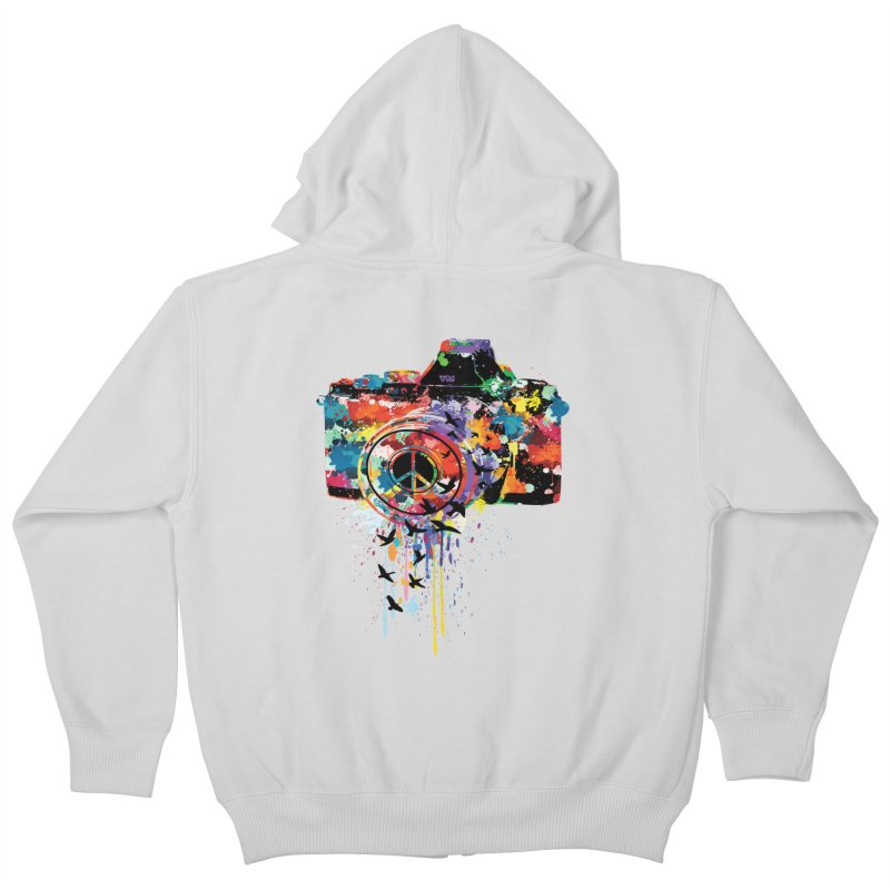 colorful DSLR Kids Zip-Up Hoody by cindyshim's Artist Shop