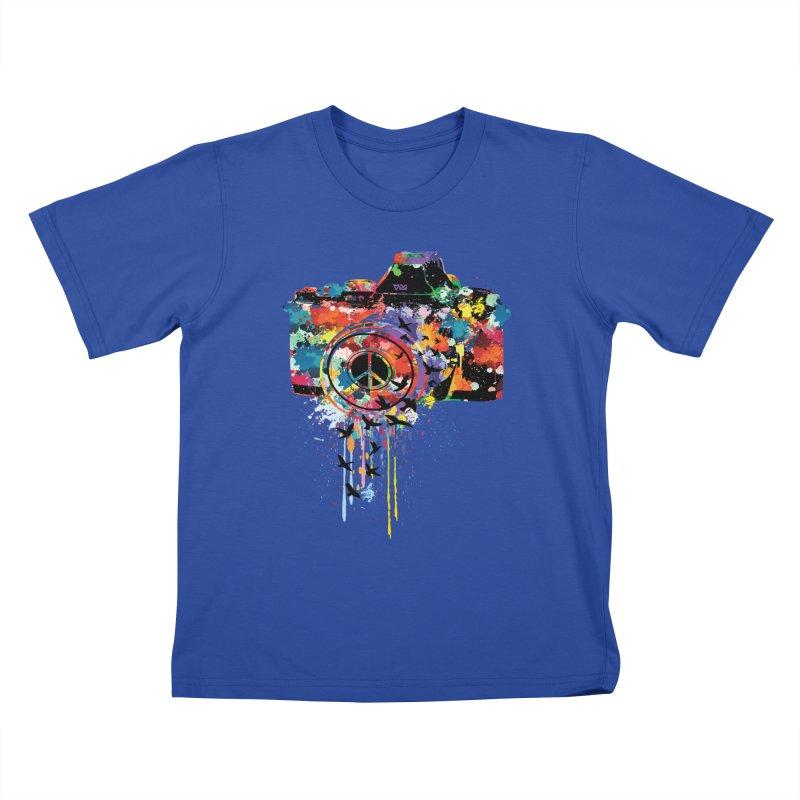 colorful DSLR Kids T-shirt by cindyshim's Artist Shop