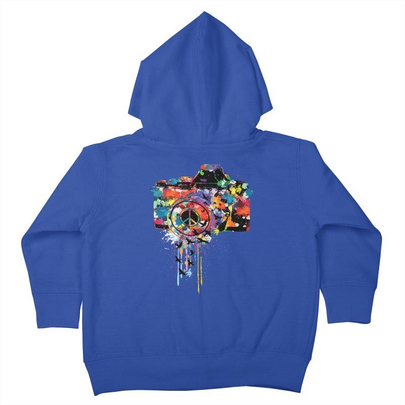 colorful DSLR Kids Toddler Zip-Up Hoody by cindyshim's Artist Shop