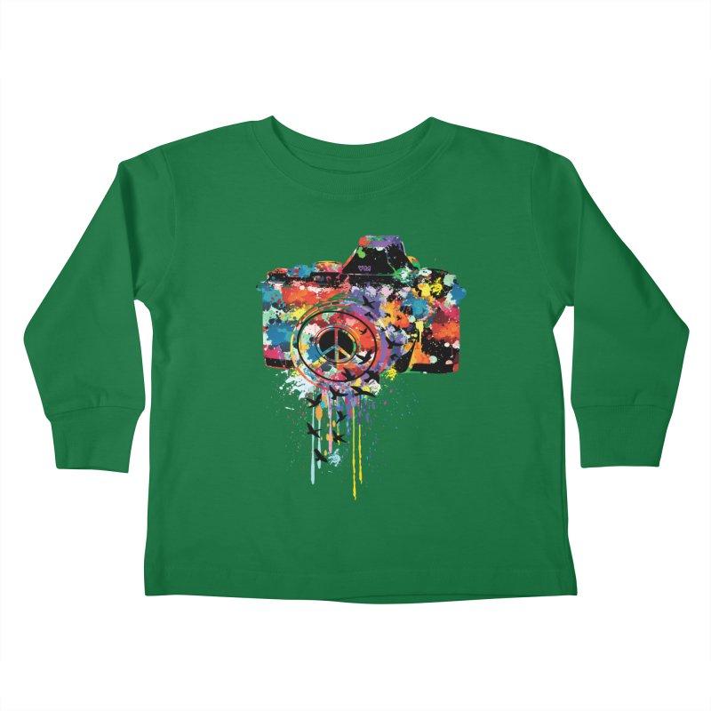 colorful DSLR Kids Toddler Longsleeve T-Shirt by cindyshim's Artist Shop
