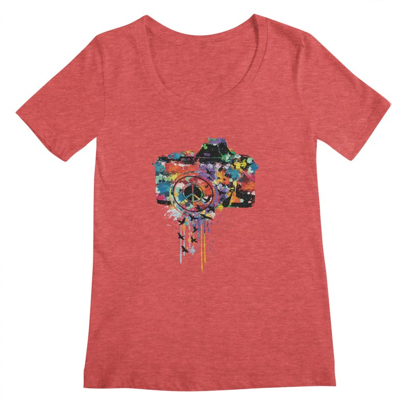 colorful DSLR Women's Scoopneck by cindyshim's Artist Shop