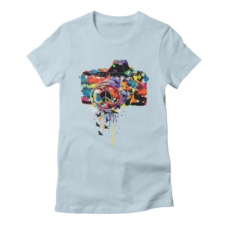 colorful DSLR Women's Fitted T-Shirt by cindyshim's Artist Shop