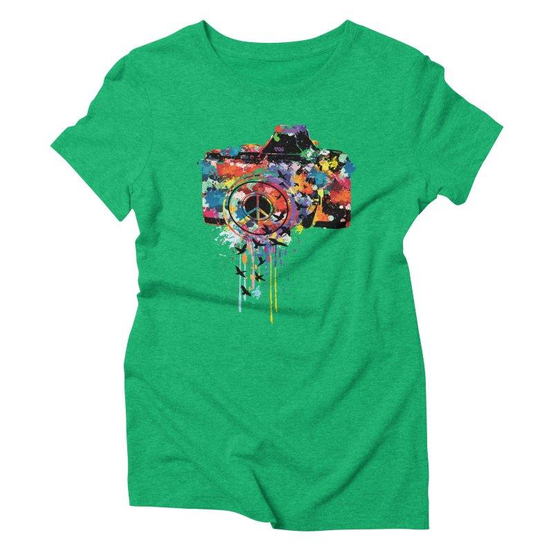 colorful DSLR Women's Triblend T-shirt by cindyshim's Artist Shop