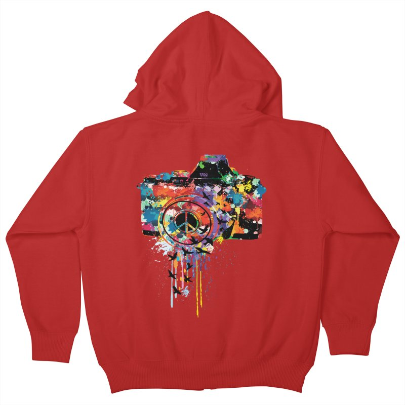 colorful DSLR Kids Zip-Up Hoody by cindyshim's Artist Shop