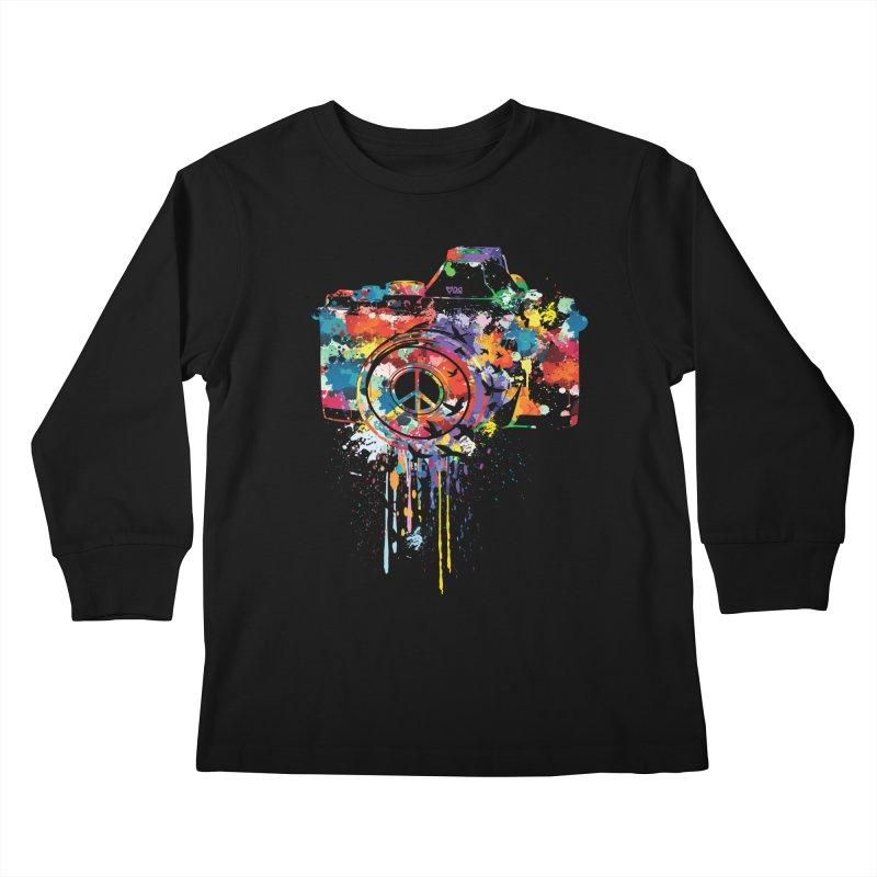 colorful DSLR Kids Longsleeve T-Shirt by cindyshim's Artist Shop
