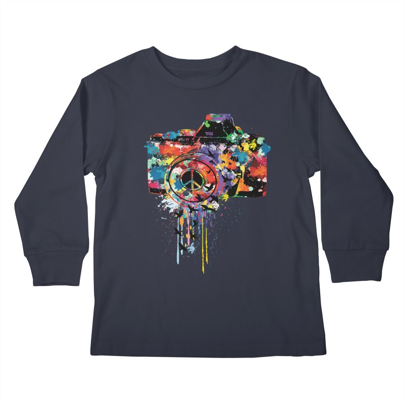 colorful DSLR Kids Longsleeve T-Shirt by cindyshim's Artist Shop