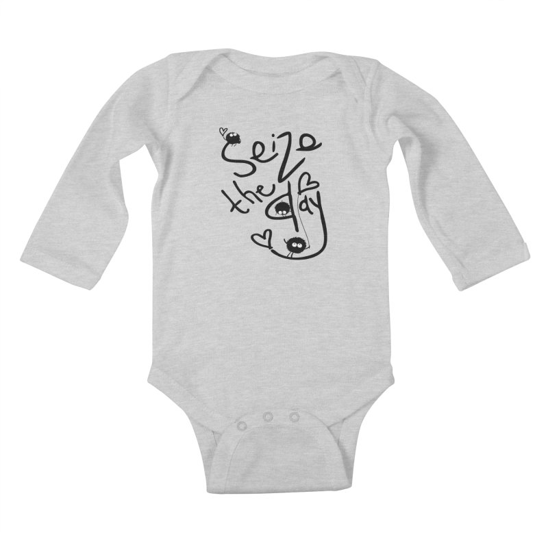 Seize the day Kids Baby Longsleeve Bodysuit by cindyshim's Artist Shop