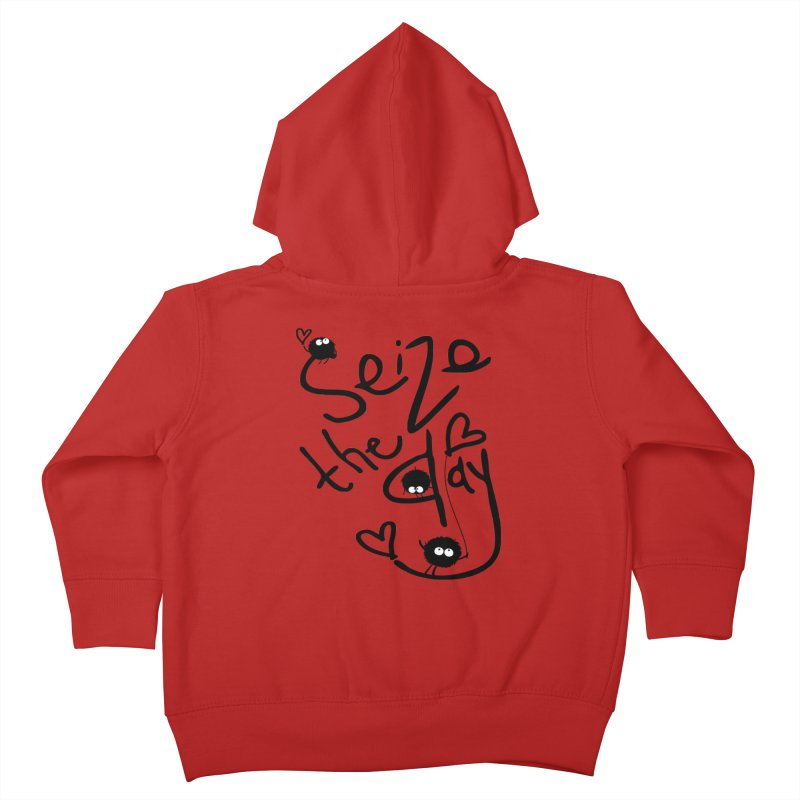 Seize the day Kids Toddler Zip-Up Hoody by cindyshim's Artist Shop