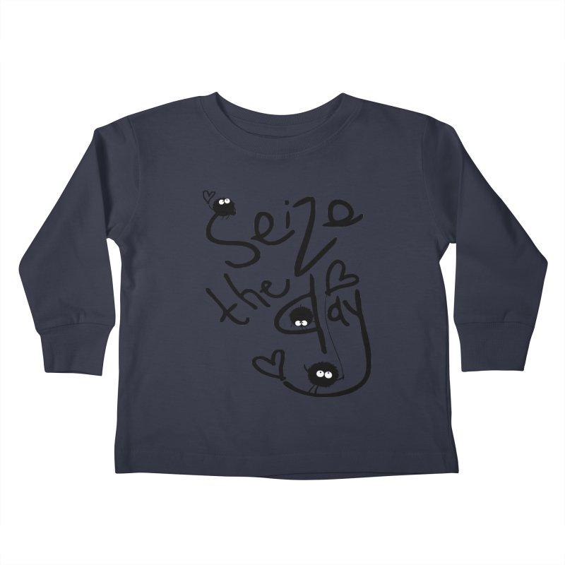 Seize the day Kids Toddler Longsleeve T-Shirt by cindyshim's Artist Shop