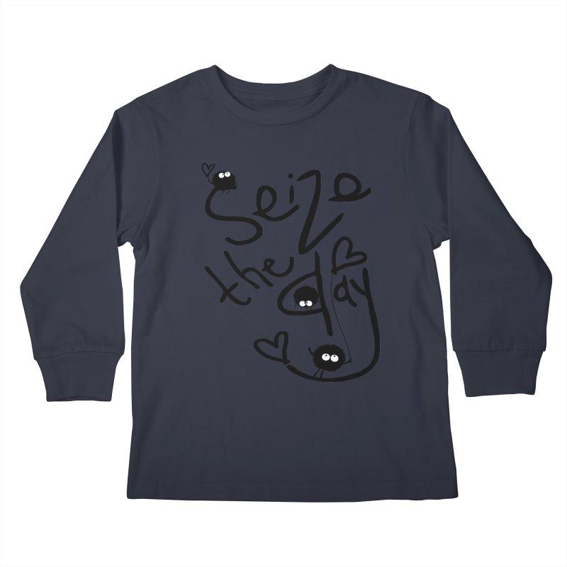 Seize the day Kids Longsleeve T-Shirt by cindyshim's Artist Shop