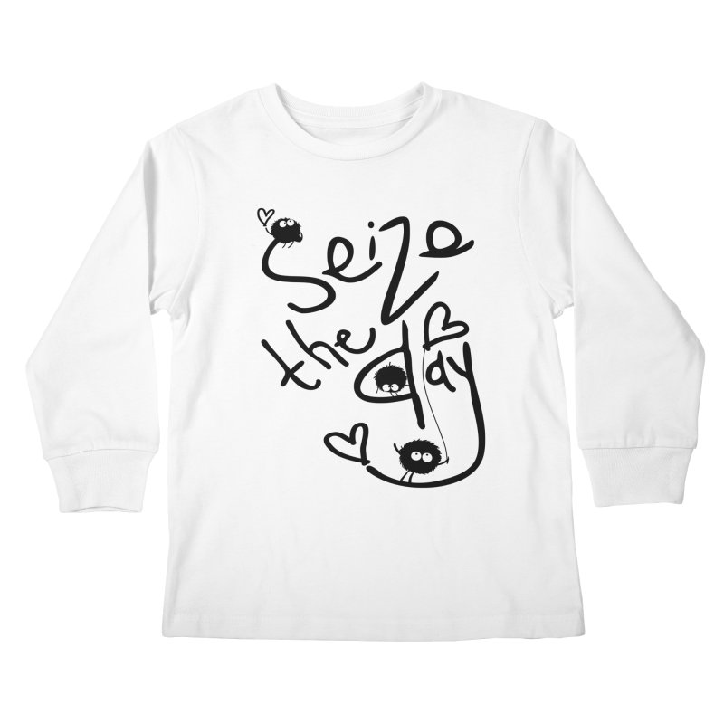 Seize the day Kids Longsleeve T-Shirt by cindyshim's Artist Shop
