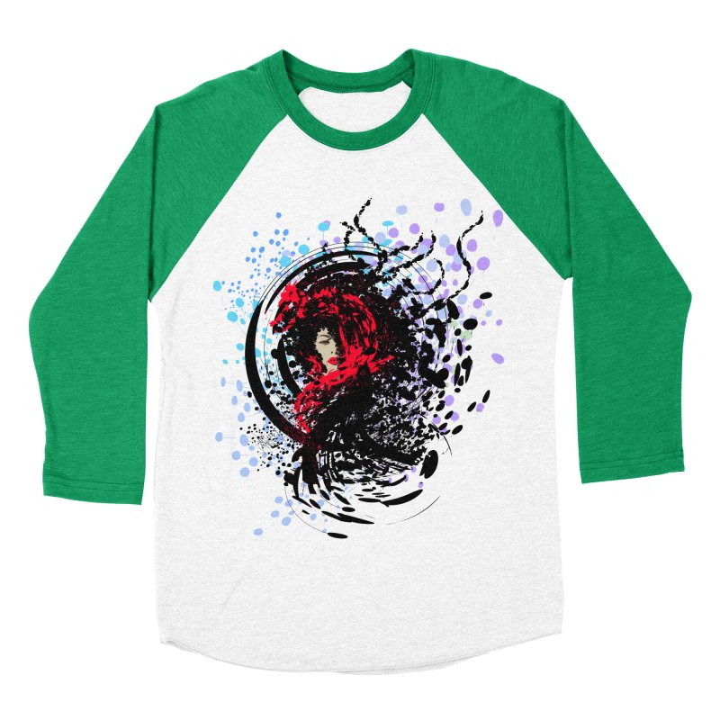Foxy Men's Baseball Triblend T-Shirt by cindyshim's Artist Shop