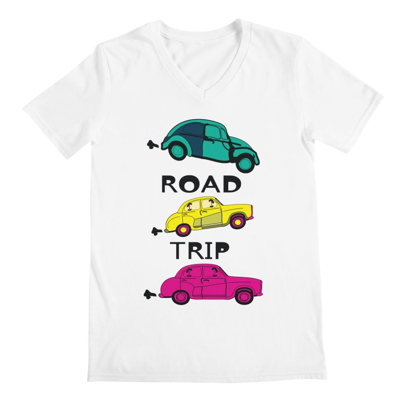 Road trip Men's V-Neck by cindyshim's Artist Shop