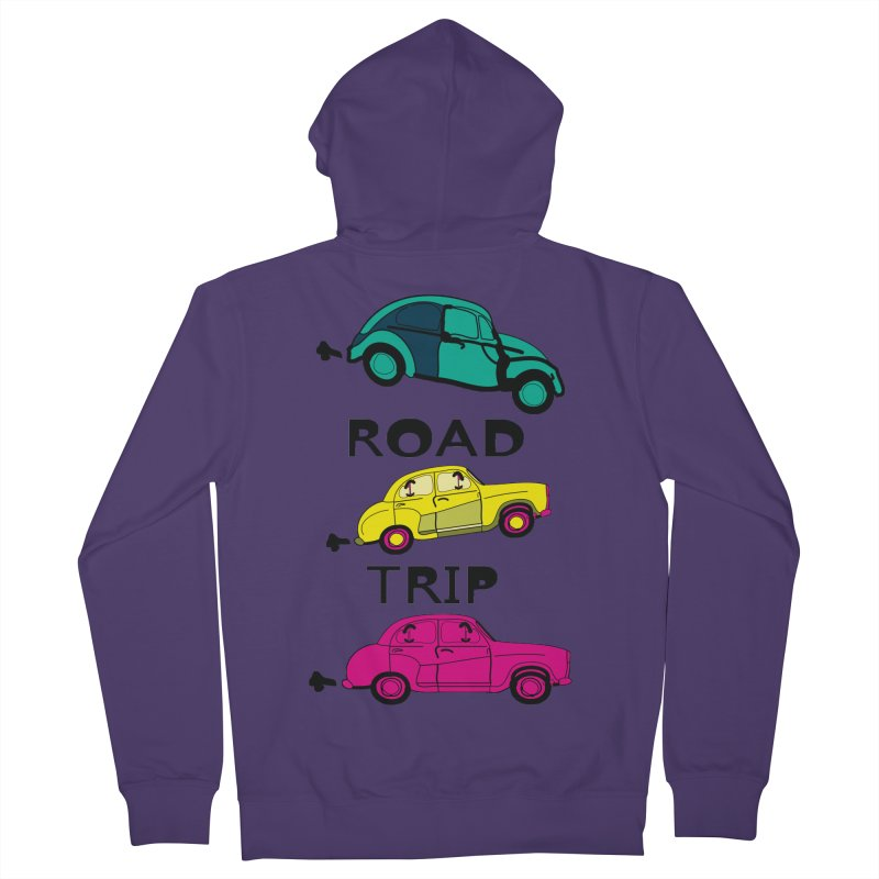 Road trip Women's French Terry Zip-Up Hoody by cindyshim's Artist Shop