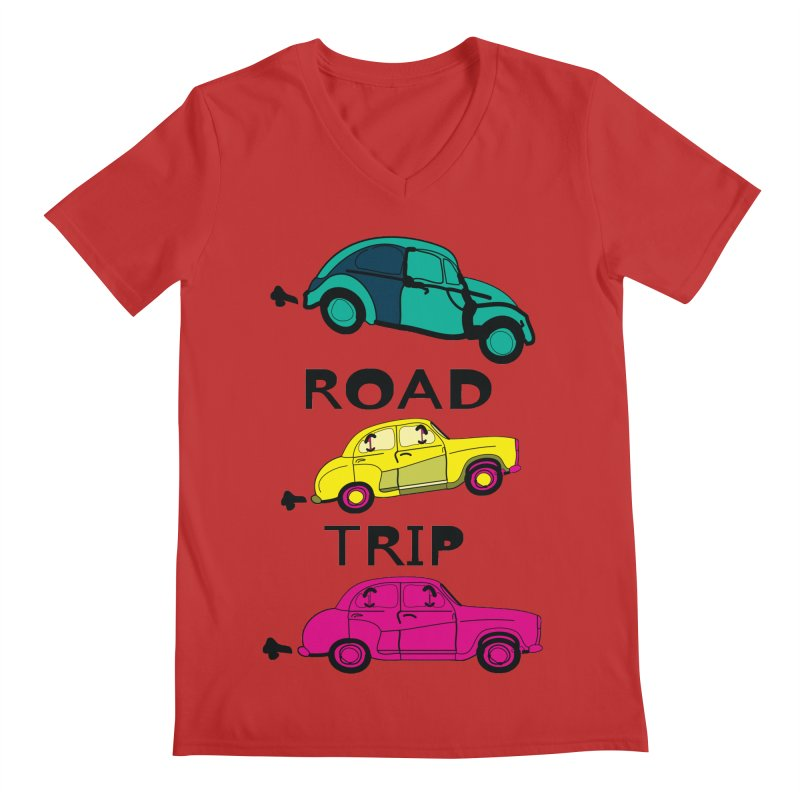 Road trip Men's Regular V-Neck by cindyshim's Artist Shop