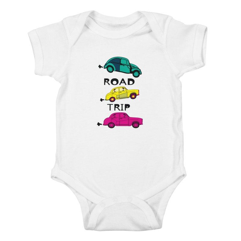 Road trip Kids Baby Bodysuit by cindyshim's Artist Shop